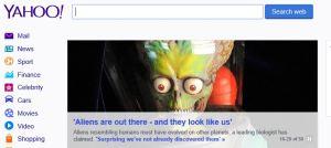 Yahoo alien news