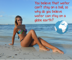 flat earth ball of water