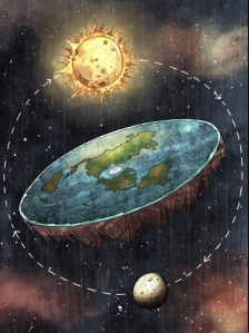 This is NOT how flat earth believers picture the earth and sun.