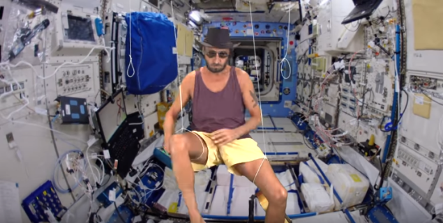Even this guy looks like he's on the space station.