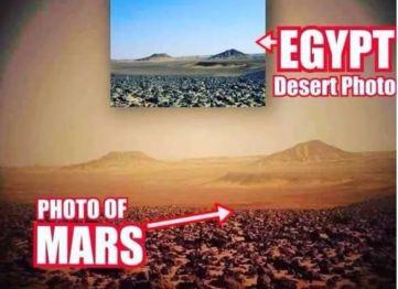 Egypt and Mars terrain